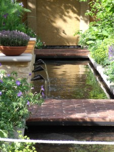 Adam Frost's garden, Chelsea 2009 where gently running water was used.