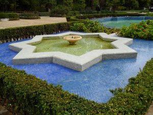 Jnane Sbil: classic star shaped pool