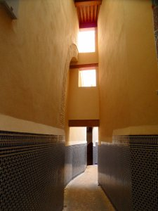 Light through windows: Part of the restoration work done with the support of the King in Fes Medina