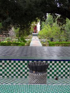 Musee Batha: tiled central pathway across the garden