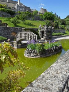 The little island and pond, Villa Ferrari, Stanjel, Slovenia 2014